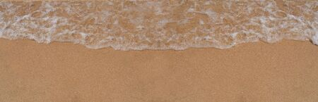 beautiful sandy beach and soft wave. Header, site