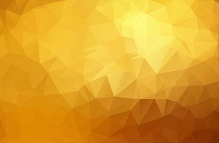 Abstract golden, yellow background from triangles, vector illustration. Eps 10.