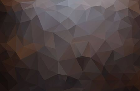 Abstract vector military background made of triangles. Background color is black, brown, red. Design pattern Illusztráció