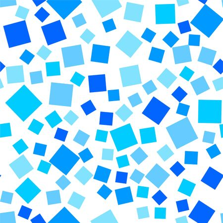 Seamless vector backgrounds from Blue, monochrome squares. Monochrome graphic pattern. Eps10.