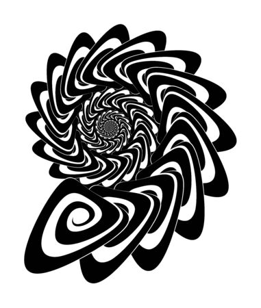 Abstract vector spiral shape on a white background. Isolated spiral, template for design, hypnotic effect. Eps 10.