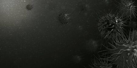 Dark, black Background for banner Coronovirus, 2019-ncov,  virus. Template for a pandemic design. Reklamní fotografie