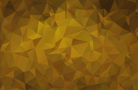 Geometric vector triangular background, gold, yellow, brown.