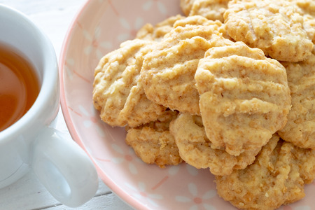 Cereal cookie, selective focus Stock Photo