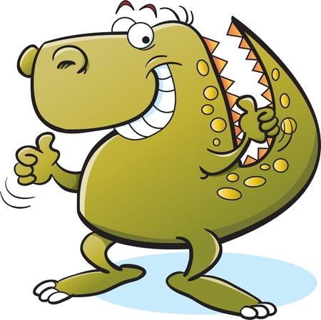 Smiling T-Rex Dinosaur Vector
