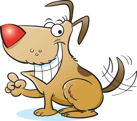 perro caricatura: Sonriendo perro Vectores