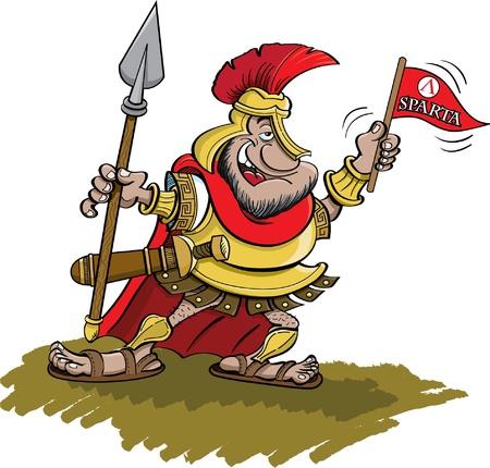 sparta: Spartan, der eine Lanze Illustration