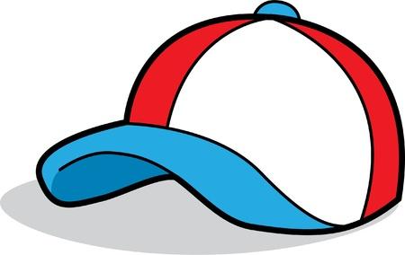 casquette: Casquette de baseball de bande dessin�e Illustration