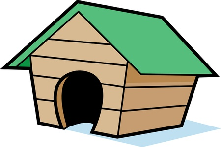 Cartoon Doghouse Stock Vector - 13221550