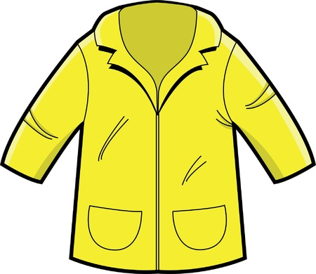rain coat: Illustration of a Raincoat