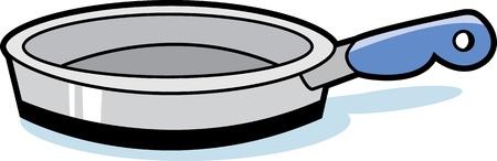 Koekenpan Vector Illustratie