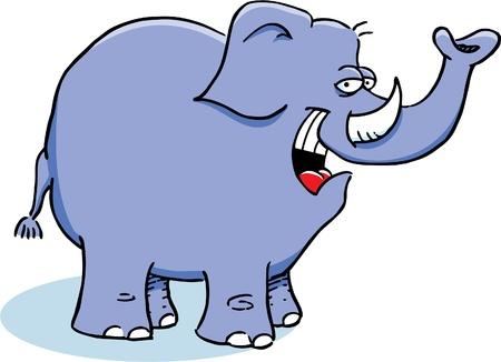 Smiling Elephant Vector