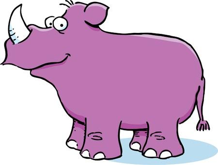 with humor: Smiling Rhinoceros Illustration