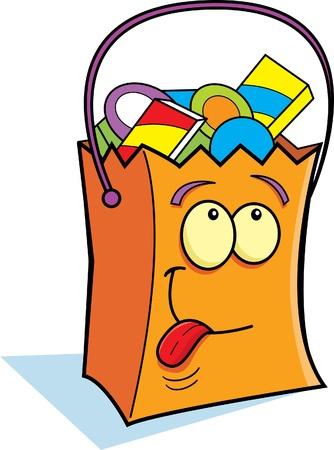 Trick or Treat bag Illustration