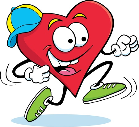 heart: Running Heart Illustration