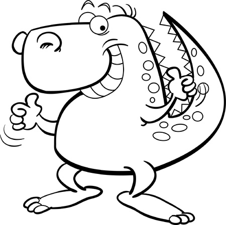 Tyranosaurus Rex for coloring page