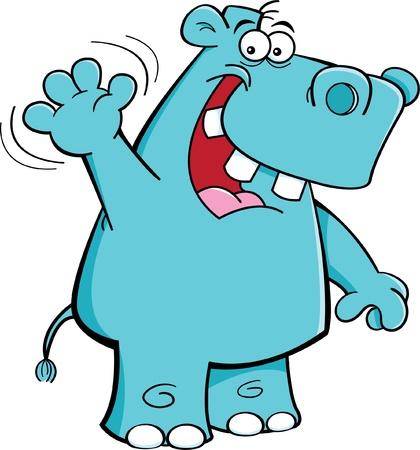 Illustration de dessin animé d'une ondulation hippo Banque d'images - 14374633