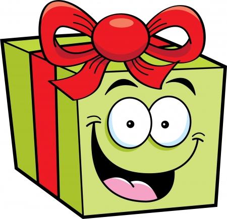 Cartoon illustration of a happy gift Stock Vector - 14374640