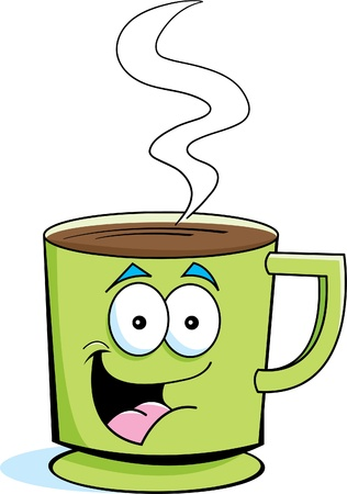 coffee: Cartoon illustration of a cup of coffee