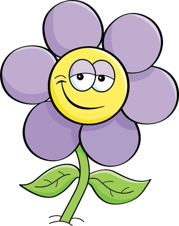 flowers cartoon: Cartoon illustration of a flower  Illustration