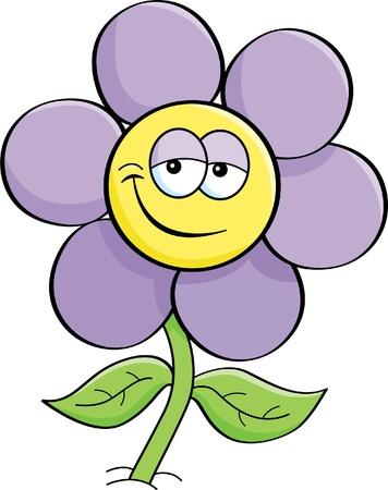 pétalas: Ilustração dos desenhos animados de uma flor