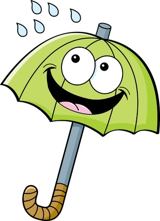 cartoon umbrella: Cartoon illustration of an umbrella