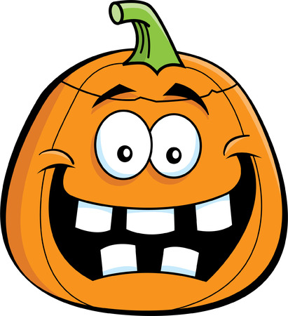 Cartoon illustration of a pumpkin