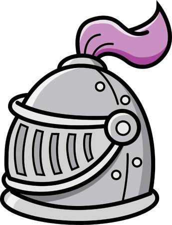 Cartoon illustration of a knight s helmet