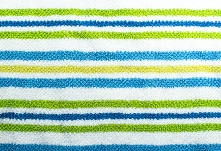 towelling: Textured Green Blue and White Horizontal Stripes