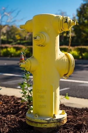 borne fontaine: Jaune d'eau d'incendie