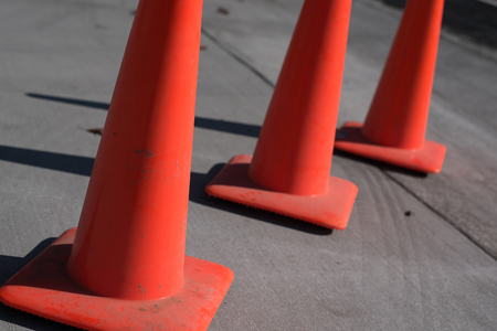 traffic   cones: Orange Traffic Cones Stock Photo