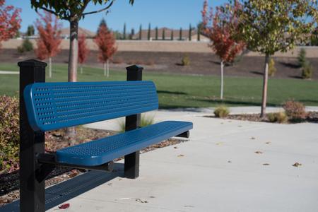 公園のベンチ 写真素材