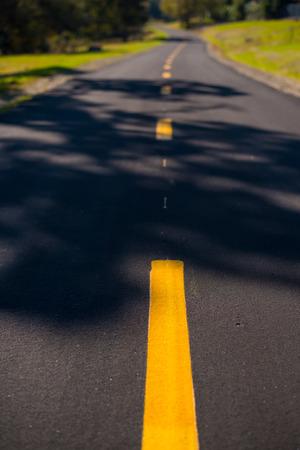 自転車と歩行パス 写真素材
