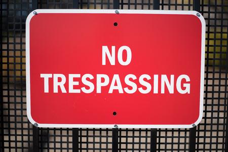 prohibido el paso: Prohibido el paso Registrarse  Foto de archivo