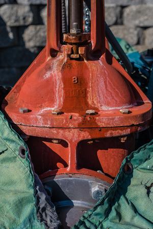 borne fontaine: Fire Hydrant Valve Banque d'images