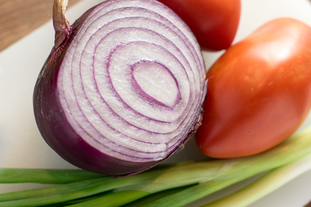 chives: Onion Tomato and Chives Stock Photo