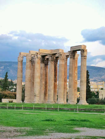 olympian: Ruins of Temple of Olympian Zeus Athens Greece.