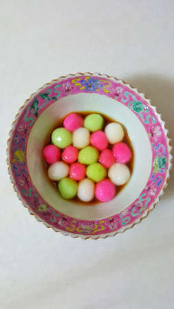 tang: A bowl of Tang Yuan - Chinese glutinous rice ball in syrup.