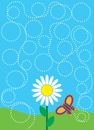 erratic: Butterfly circling aimlessly around flower