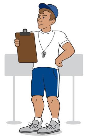 estimating: Coach observing athlete\\\\