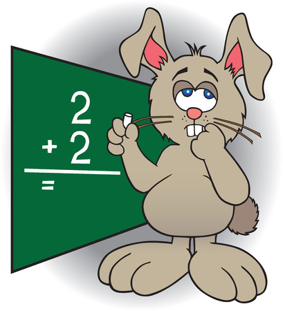 uneducated: Bunny is struggling to come up with the answer to simple equation