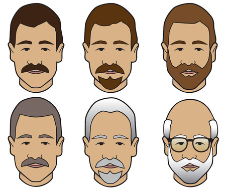 Stages of facial hair
