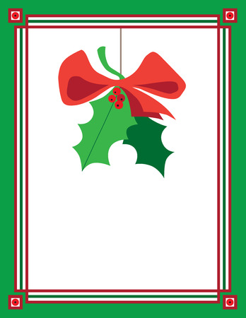 Mistletoe hanging in decorative frame
