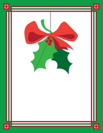 corny: Mistletoe hanging in decorative frame