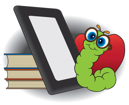 eager: Bookworm about to fire up electronic reader instead of books