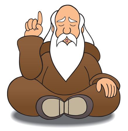 Wijs man doseren wijsheid Stock Illustratie