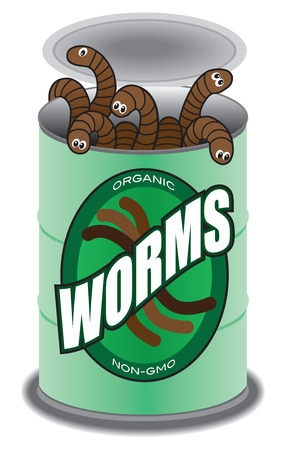 Freshly opened can of worms Illustration