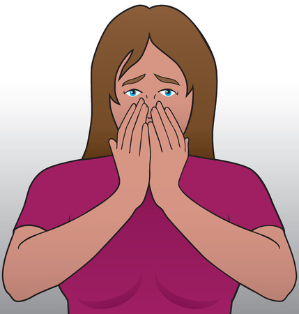 jolt: Young woman reacting to some bad news Illustration