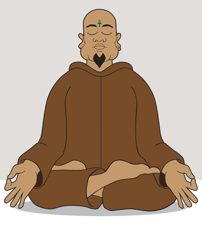 rational: Yoga master attempting to achieve enlightenment through meditation Illustration