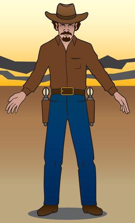 enforcer: Gunslinger preparing to shoot it out